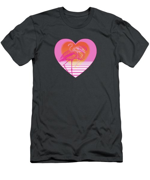 Pink Flamingos Men's T-Shirt (Slim Fit) by Eclectic at HeART