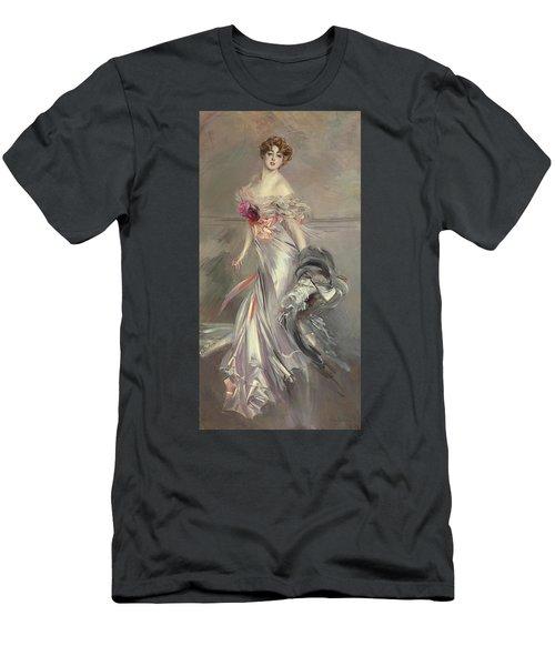 Portrait Of Marthe Regnier Men's T-Shirt (Slim Fit) by Giovanni Boldini