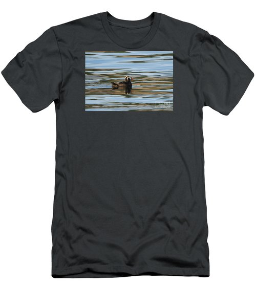 Puffin Reflected Men's T-Shirt (Slim Fit) by Mike Dawson