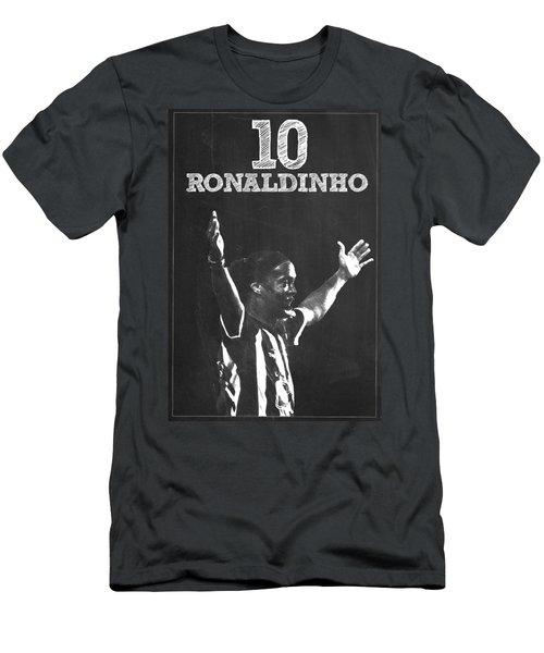 Ronaldinho Men's T-Shirt (Slim Fit) by Semih Yurdabak