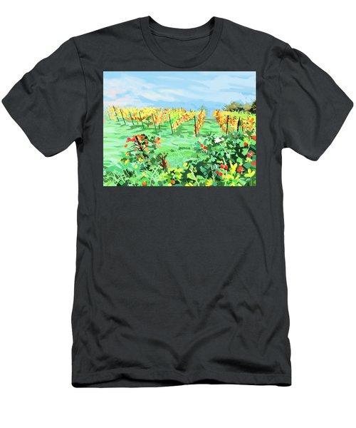 Roosthole Vineyard Men's T-Shirt (Slim Fit) by Plum Ovelgonne