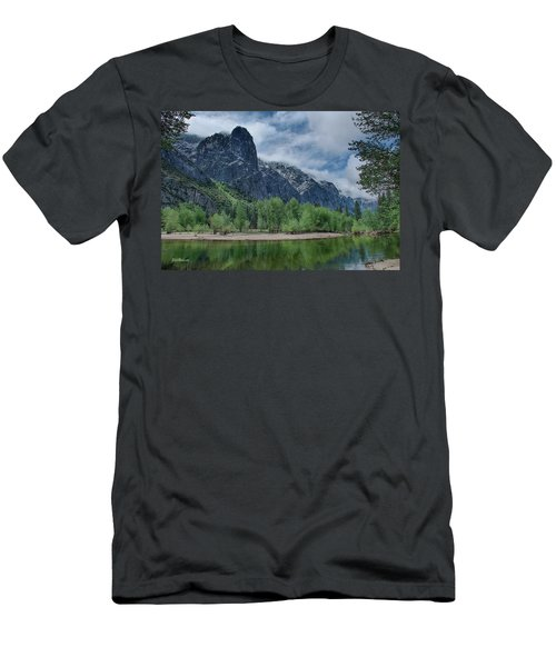 Sentinel Rock After The Storm Men's T-Shirt (Slim Fit) by Bill Roberts