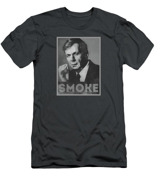 Smoke Funny Obama Hope Parody Smoking Man Men's T-Shirt (Slim Fit) by Philipp Rietz