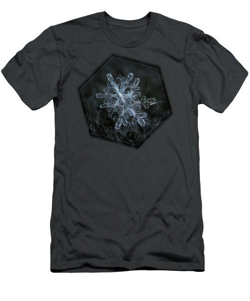 Snowflake Of January 18 2013 Men's T-Shirt (Slim Fit) by Alexey Kljatov