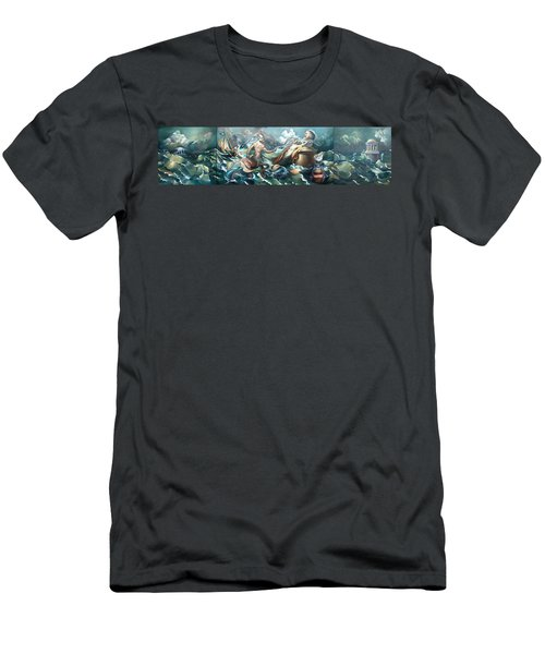 Something Fowl Afloat 2b Men's T-Shirt (Slim Fit) by Patrick Anthony Pierson