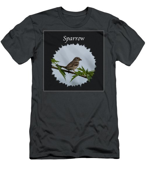 Sparrow   Men's T-Shirt (Slim Fit) by Jan M Holden