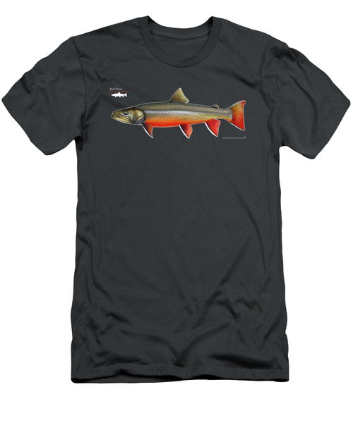 Spawning Bull Trout And Kokanee Salmon Men's T-Shirt (Slim Fit) by Nick Laferriere