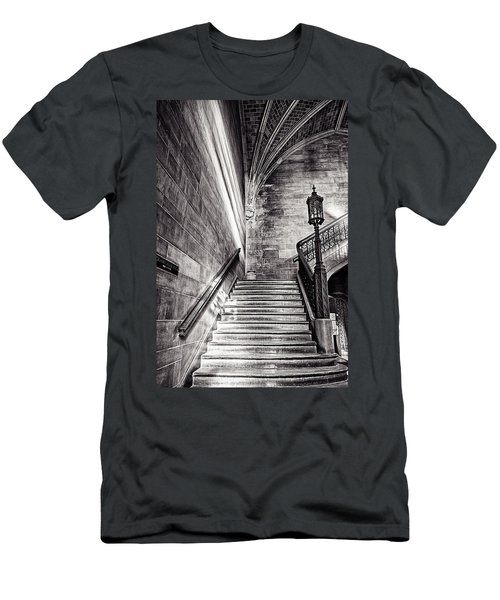 Stairs Of The Past Men's T-Shirt (Slim Fit) by CJ Schmit