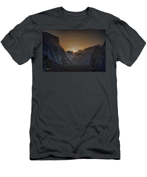 Sunburst Yosemite Men's T-Shirt (Slim Fit) by Bill Roberts