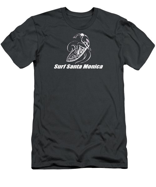 Surf Santa Monica Men's T-Shirt (Slim Fit) by Brian's T-shirts