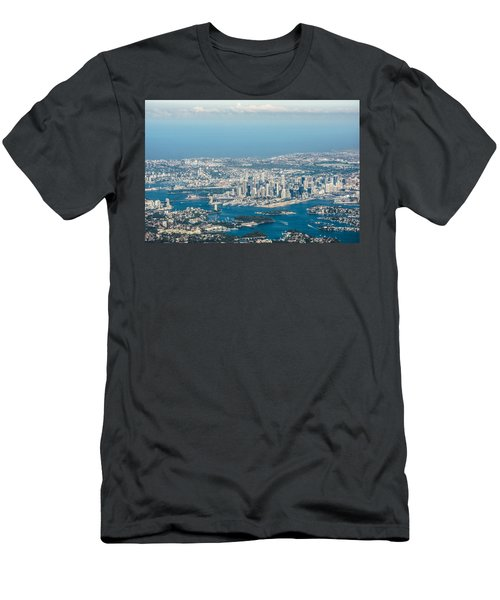 Sydney From The Air Men's T-Shirt (Slim Fit) by Parker Cunningham