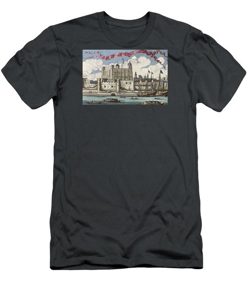 The Tower Of London Seen From The River Thames Men's T-Shirt (Slim Fit) by English School