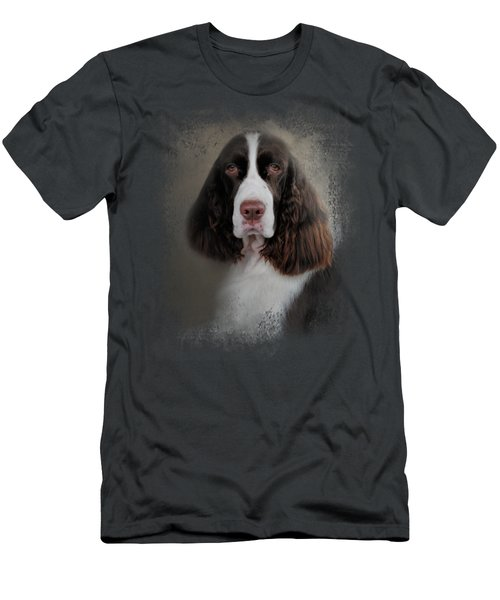 Waiting Patiently - English Springer Spaniel Men's T-Shirt (Slim Fit) by Jai Johnson