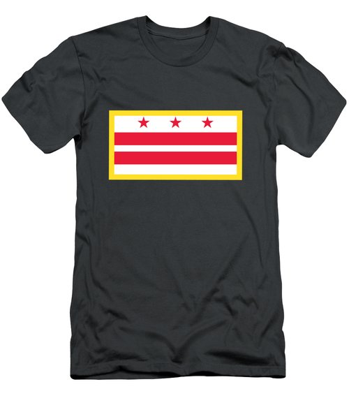 Washington, D.c. Flag Men's T-Shirt (Slim Fit) by Frederick Holiday