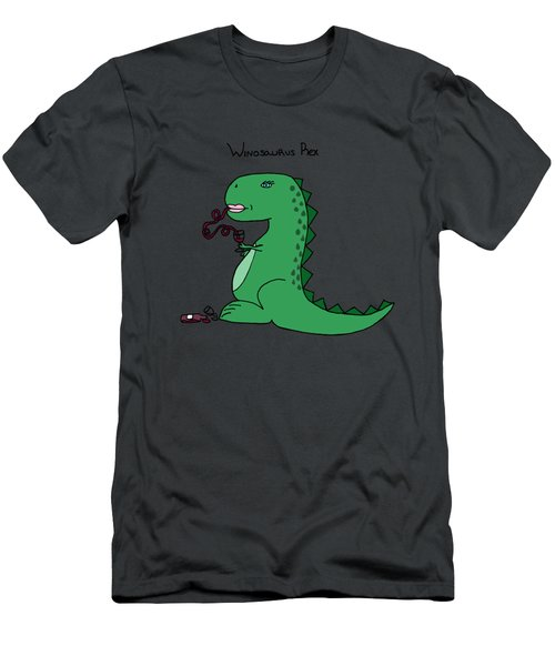 Winosaurus Rex Men's T-Shirt (Slim Fit) by Tamera Dion