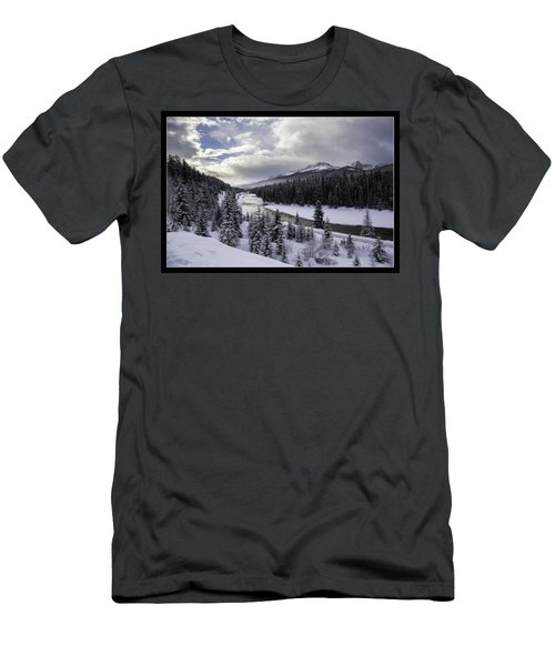 Winter In The Rockies Men's T-Shirt (Slim Fit) by J and j Imagery