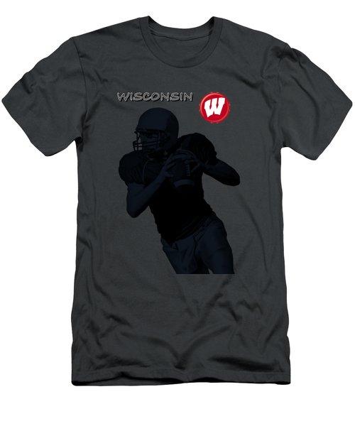 Wisconsin Football Men's T-Shirt (Slim Fit) by David Dehner