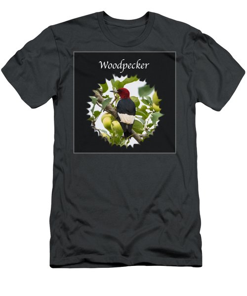 Woodpecker Men's T-Shirt (Slim Fit) by Jan M Holden