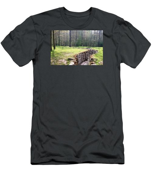 Men's T-Shirt (Slim Fit) featuring the photograph World War One Trenches by Travel Pics