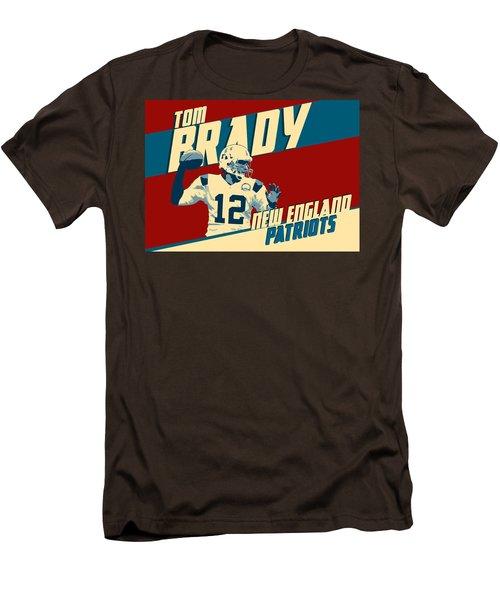 Tom Brady Men's T-Shirt (Slim Fit) by Taylan Apukovska