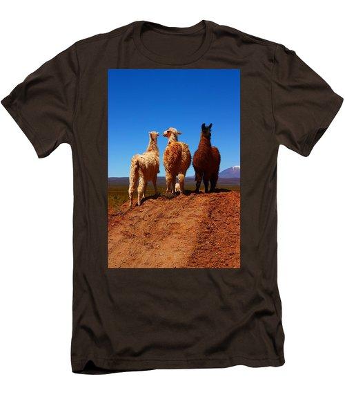 3 Amigos Men's T-Shirt (Slim Fit) by FireFlux Studios