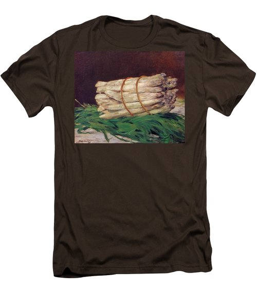 A Bunch Of Asparagus Men's T-Shirt (Slim Fit) by Edouard Manet