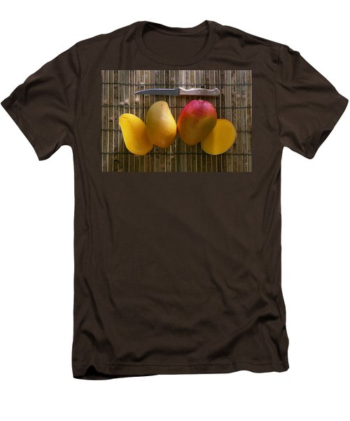 Agriculture - Sliced Sunrise Mango Men's T-Shirt (Slim Fit) by Daniel Hurst