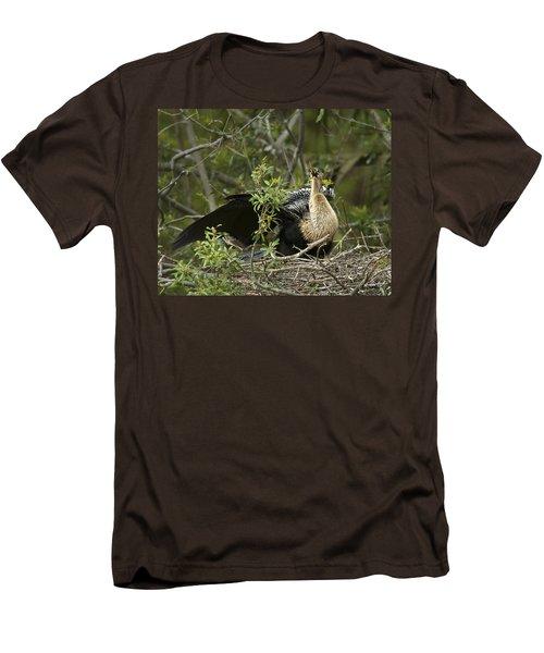 Anhinga Mama Men's T-Shirt (Slim Fit) by Phill Doherty