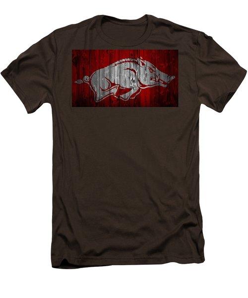 Arkansas Razorbacks Barn Door Men's T-Shirt (Slim Fit) by Dan Sproul