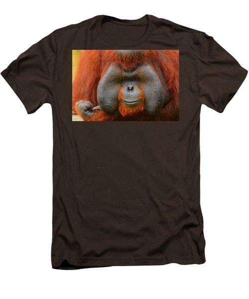 Bornean Orangutan Men's T-Shirt (Slim Fit) by Lourry Legarde
