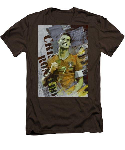 Cristiano Ronaldo Men's T-Shirt (Slim Fit) by Corporate Art Task Force