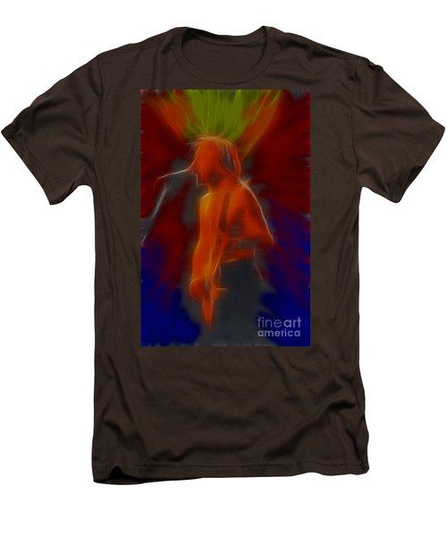 Def Leppard-adrenalize-gb13-phil-fractal Men's T-Shirt (Slim Fit) by Gary Gingrich Galleries