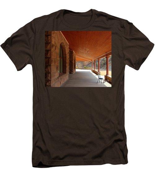 Men's T-Shirt (Slim Fit) featuring the photograph Evans Porch by Bill Gabbert