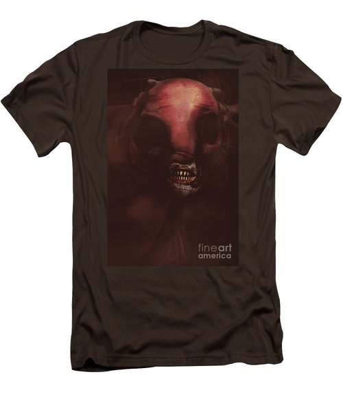 Evil Greek Mythology Minotaur Men's T-Shirt (Slim Fit) by Jorgo Photography - Wall Art Gallery