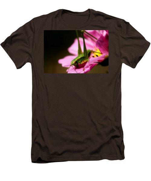 Flower Hopper Men's T-Shirt (Slim Fit) by Michael Eingle