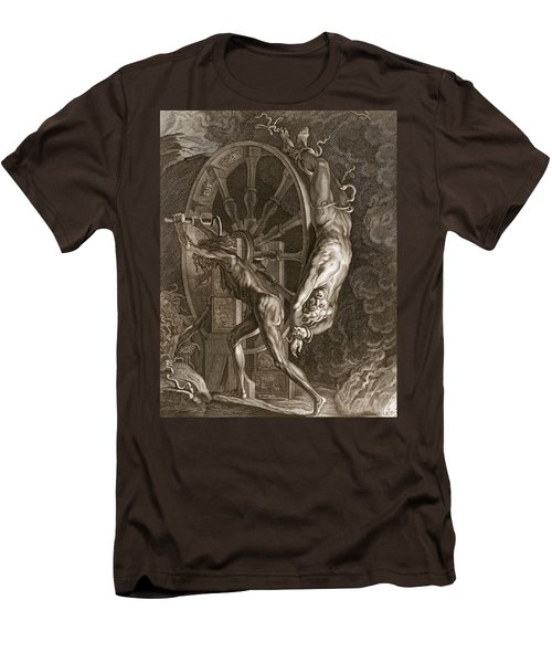Ixion In Tartarus On The Wheel, 1731 Men's T-Shirt (Slim Fit) by Bernard Picart