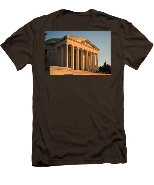 Jefferson Memorial Sunset Men's T-Shirt (Slim Fit) by Steve Gadomski