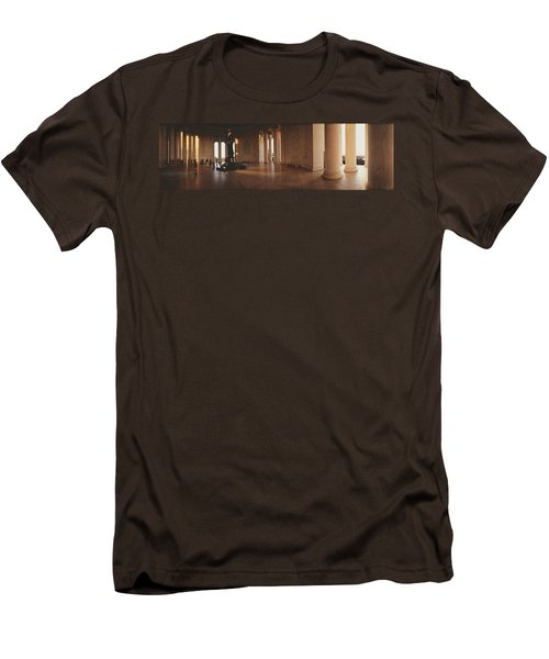 Jefferson Memorial Washington Dc Usa Men's T-Shirt (Slim Fit) by Panoramic Images