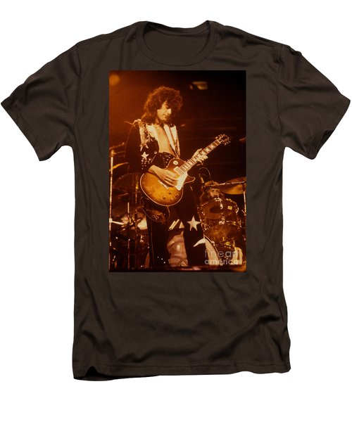 Jimmy Page 1975 Men's T-Shirt (Slim Fit) by David Plastik