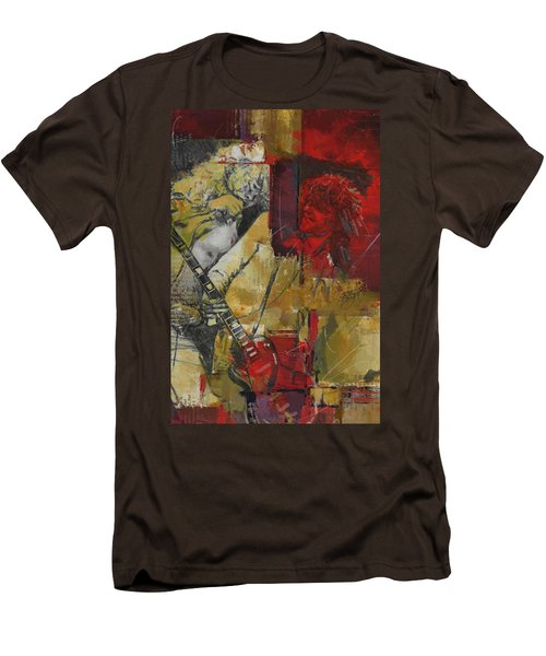 Led Zeppelin Men's T-Shirt (Slim Fit) by Corporate Art Task Force