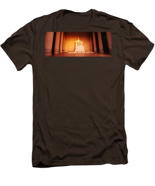 Low Angle View Of A Statue Of Abraham Men's T-Shirt (Slim Fit) by Panoramic Images