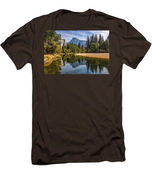 Merced River View II Men's T-Shirt (Slim Fit) by Peter Tellone