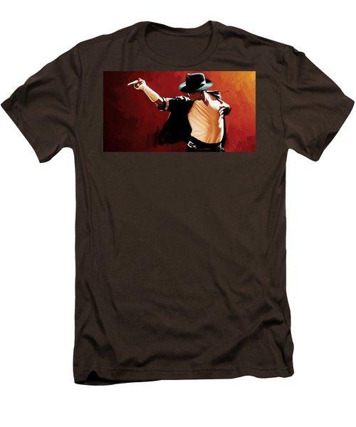 Michael Jackson Artwork 4 Men's T-Shirt (Slim Fit) by Sheraz A