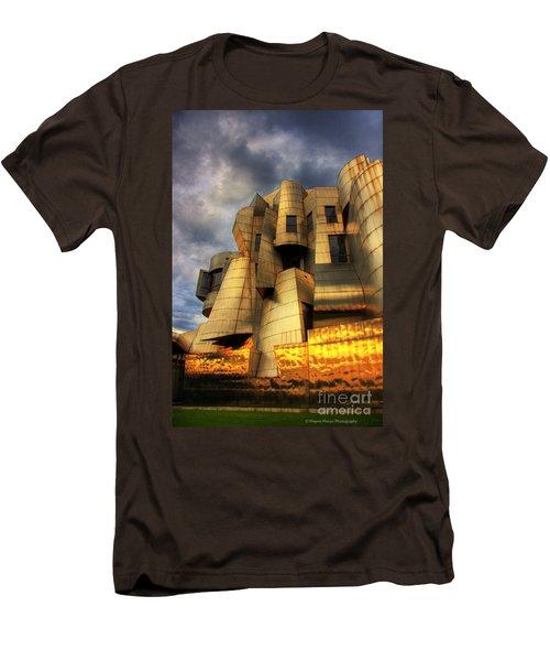 Minneapolis Skyline Photography Weisman Museum Men's T-Shirt (Slim Fit) by Wayne Moran