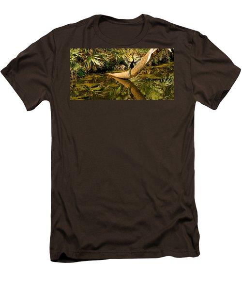 Oriental Darter Anhinga Melanogaster Men's T-Shirt (Slim Fit) by Panoramic Images