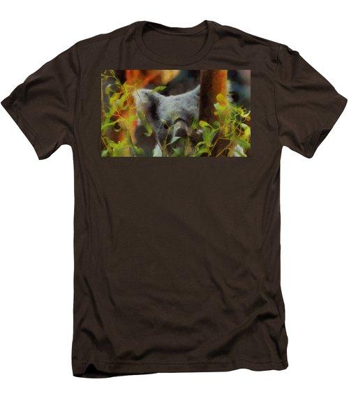 Shy Koala Men's T-Shirt (Slim Fit) by Dan Sproul