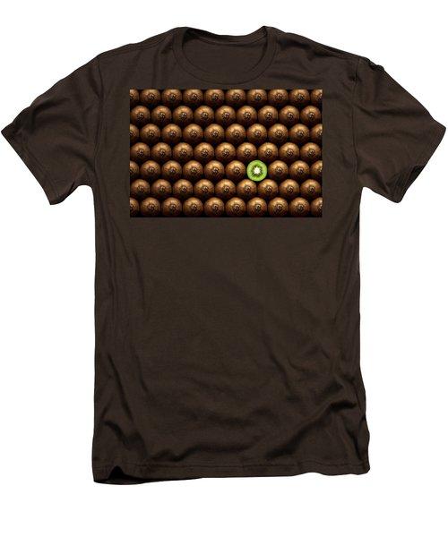 Sliced Kiwi Between Group Men's T-Shirt (Slim Fit) by Johan Swanepoel