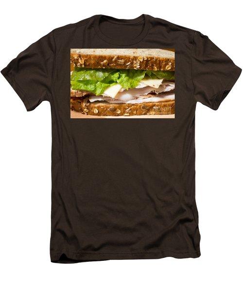 Smoked Turkey Sandwich Men's T-Shirt (Slim Fit) by Edward Fielding