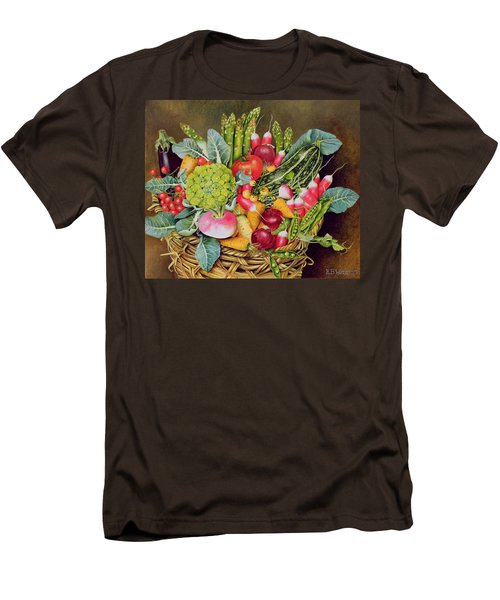 Summer Vegetables Men's T-Shirt (Slim Fit) by EB Watts