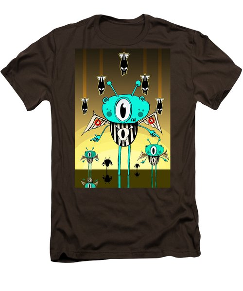 Team Alien Men's T-Shirt (Slim Fit) by Johan Lilja